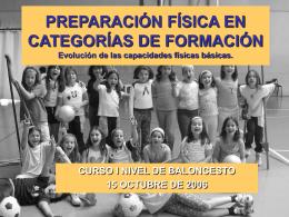 PREPARACIÓN FÍSICA EN CATEGORÍAS DE FORMACIÓN