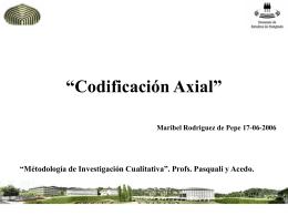 Codificación Axial