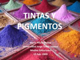 TINTAS Y PIGMENTOS - dismed