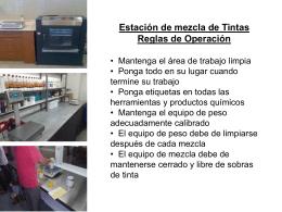 Almacenamiento de Tintas Reglas de Operación