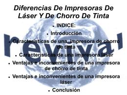 Diferencias De Impresoras De Láser Y De Chorro De Tinta