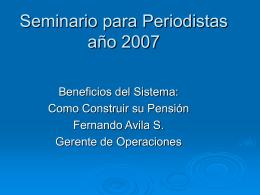 Cómo construir su pensión - Fernando Ávila