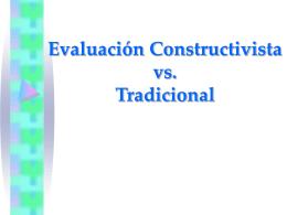 Evaluación Constructivista vs. Tradicional - uocmaster