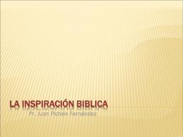 La Inspiración - El blog del Pr. Juan Pichén