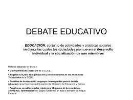 DEBATE EDUCATIVO Durazno