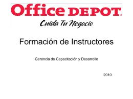 Formación de Instructores - FormacionDeLideresDeArea