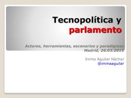 Tecnopolítica y parlamento. Madrid