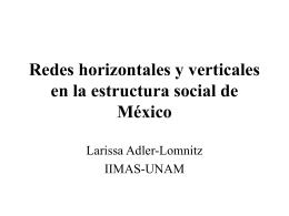 Redes horizontales y verticales en la estructura social de México