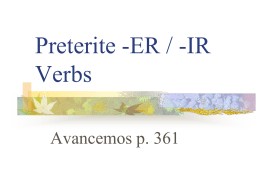 er/ir verbs powerpoint