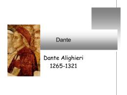 Dante: panoramica generale