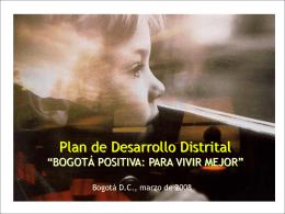 Presentación PDD Marzo - Contraloría de Bogotá D.C.