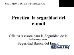 Seguridad de la información en el E-mail