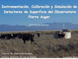 Instrumentación, Calibración y Simulación de Detectores de