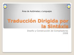 Traducción Dirigida por la Sintáxis
