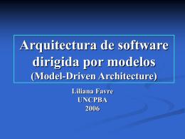 Arquitectura de software dirigida por modelos