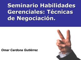 AYUDAS SEMINARIO TECNICAS NEGOCIACION