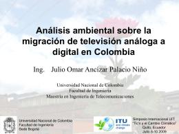 Análisis ambiental sobre la migración de televisión análoga a