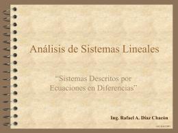 Sistemas Descritos por Ecuaciones en Diferencias