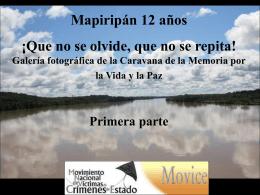 Caravana de la Memoria por la Vida y la Paz