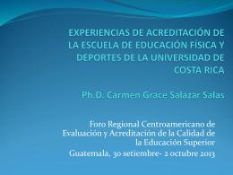 Experiencias Acreditación EDUFI UCR