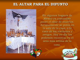 En algunos hogares de México es costumbre poner el altar de