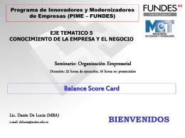 Objetivos 3: La organización empresarial