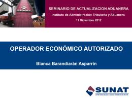 OPERADOR ECONÓMICO AUTORIZADO Blanca Barandiarán