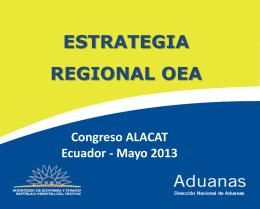 Estrategia Regional OEA - Logistica y Comercio Exterior