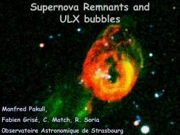 Supernova Remnants and ULX Bubbles - Chandra X