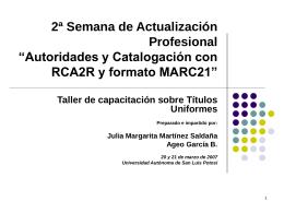titulos uniformes - cictd - Universidad Autónoma de San Luis Potosí