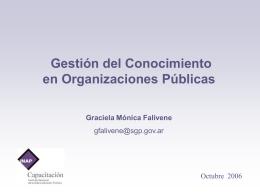 Gestión del Conocimiento en Organizaciones - DPEC