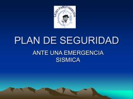 Seguridad ante un sismo