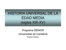 siglos XIII-XV - Universidad de Cantabria