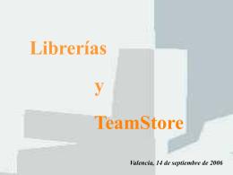 Librerias y teamstore