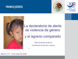 La declaratoria de alerta de violencia de género y el agravio