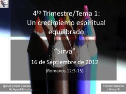 Sirva - Iglesia Bíblica Bautista de Aguadilla
