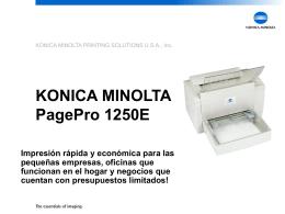 PagePro 1250E Cambio de Consumibles