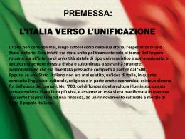 L`Italia verso l`unificazione