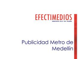 Publicidad Metro 2014
