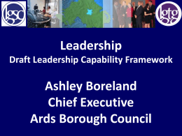 Leadership - The Local Government Staff Commission for Northern