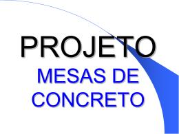 Mesa Concreto Projeto