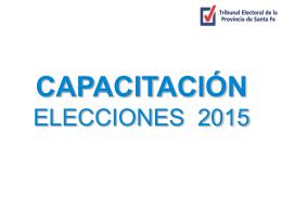 Instructivo autoridades de mesa - Tribunal Electoral de la Provincia