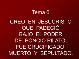 Creo en Jesucristo que padeció