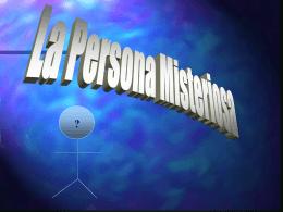 La Persona Misteriosa
