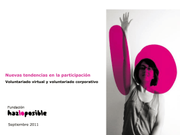 Tendencias de voluntariado. HazLoPosible