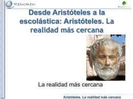Aristóteles. La realidad más cercana