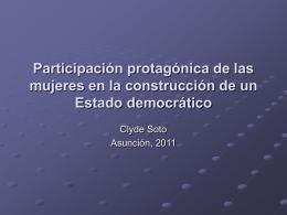 2011 Participación protagónica mujeres