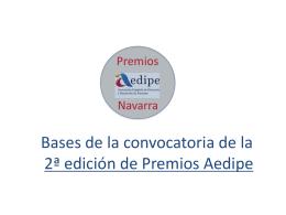 2ª edición de Premios Aedipe II PREMIOS AEDIPE NAVARRA