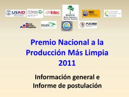 Premios nacionales - Ministerio de Medio Ambiente y Recursos