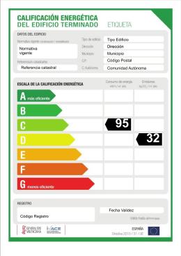 Ayuda obtención Etiqueta Eficiencia Energética Edif. terminados